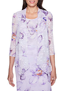 Roman Holiday Floral 2Fer Top