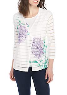 Roman Holiday Flower 2Fer Sweater