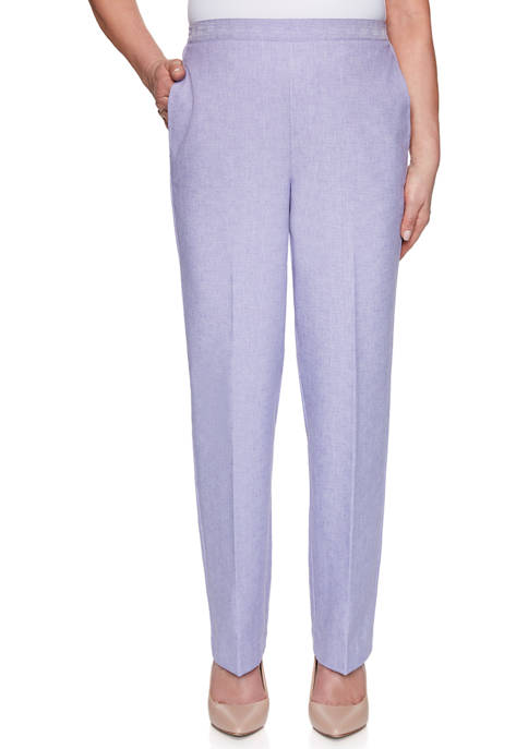 Alfred Dunner Womens Nantucket Proportioned Medium Pants