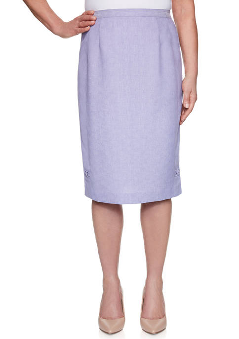Alfred Dunner Womens Nantucket Criss Cross Skirt