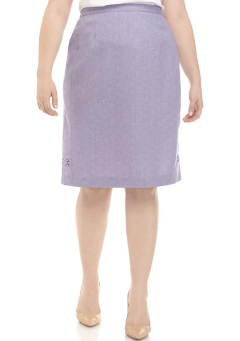Alfred Dunner Plus Size Criss Cross Skirt