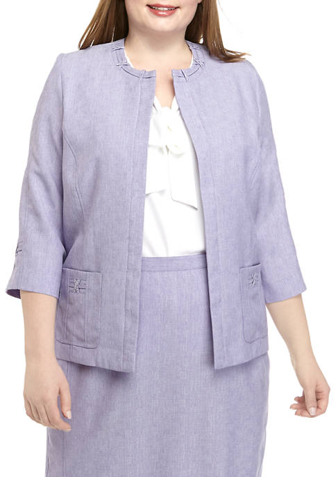 Alfred Dunner Plus Size Criss Cross Jacket