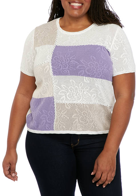 Alfred Dunner Plus Size Nantucket Short Sleeve Color
