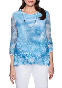 Tie Dye Floral Sweater