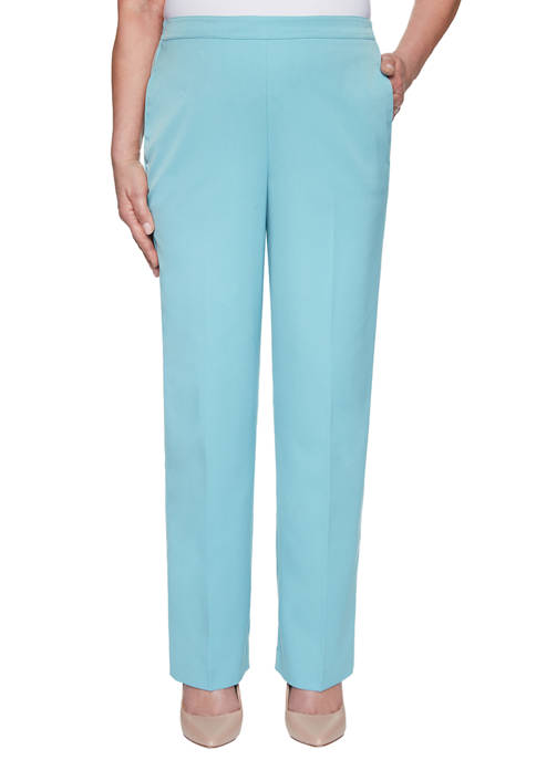 Alfred Dunner Womens Chesapeake Bay Proportioned Medium Pants