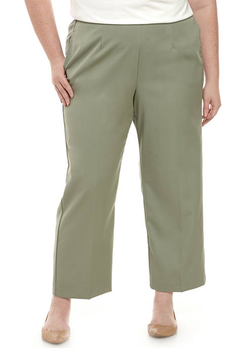 Alfred Dunner Plus Size Chesapeake Bay Twill Pants