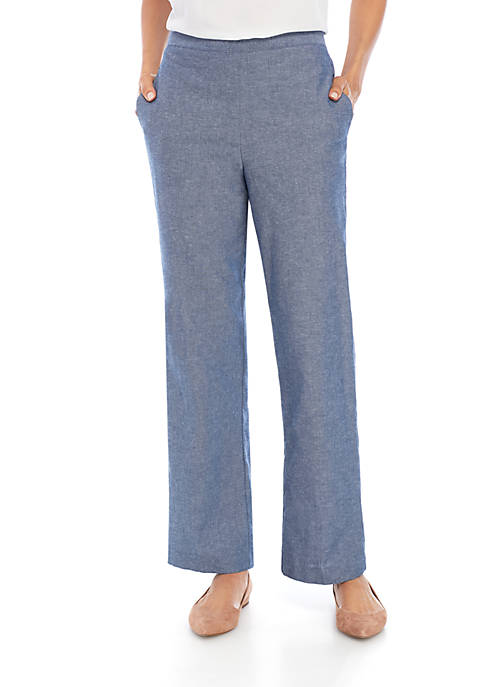 Alfred Dunner Petite Medium Pull-On Pants