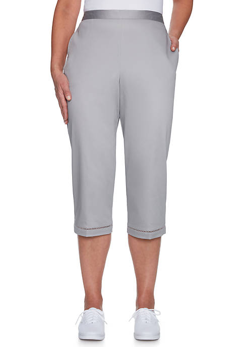 Alfred Dunner Charleston Flat Front Proportioned Pull-On Pants