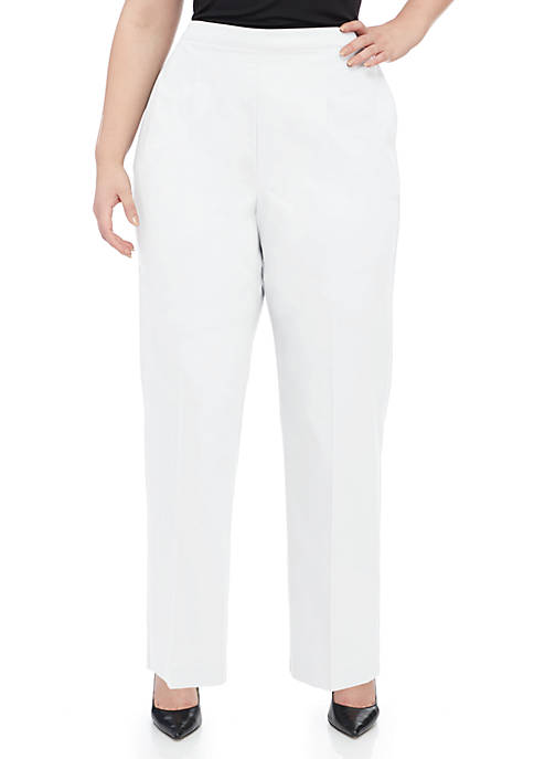 Alfred Dunner Plus Size Charleston Short Pull-on Pants