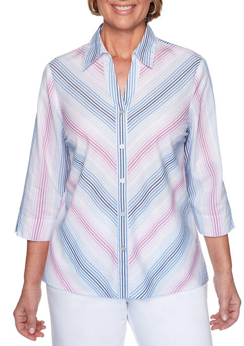 Womens Petal Pushers 2020 Button Down Shirt
