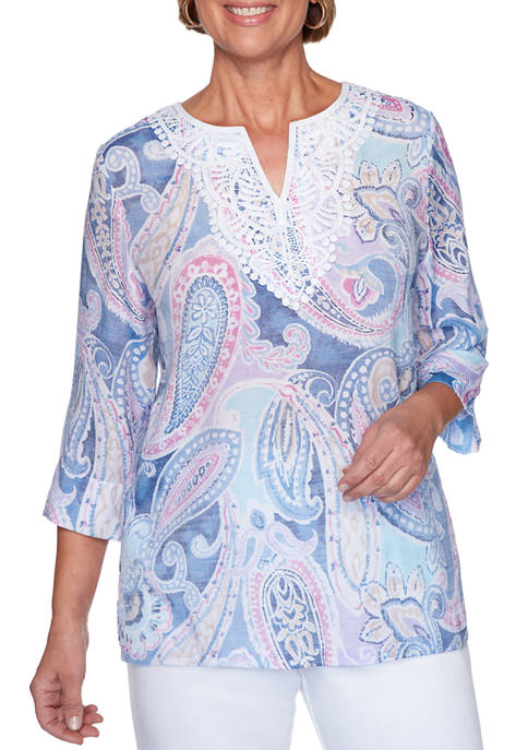 Womens Petal Pushers 2020 Paisley Tunic Shirt