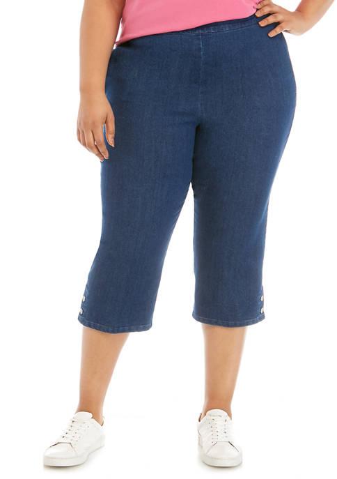Alfred Dunner Plus Size Capri Pants