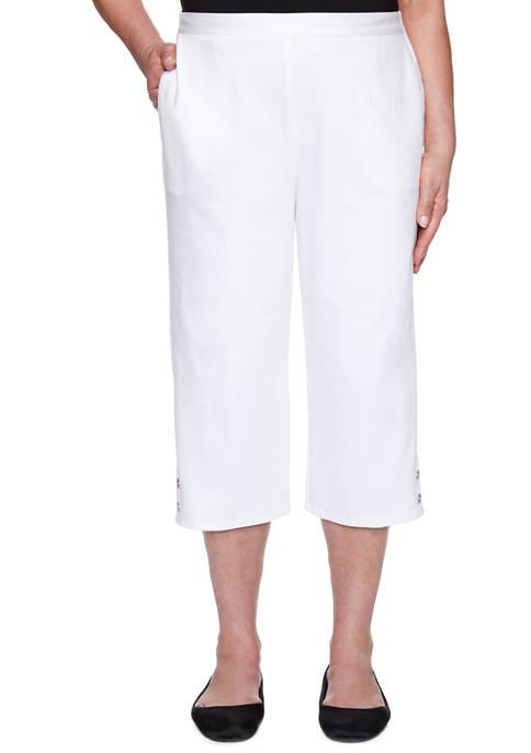 Alfred Dunner Petite Petal Pushers 2020 Pants