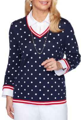 Alfred Dunner Women's Ship Shape 2020 Sweater