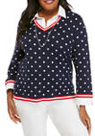 Plus Size Polka Dot 2Fer Top