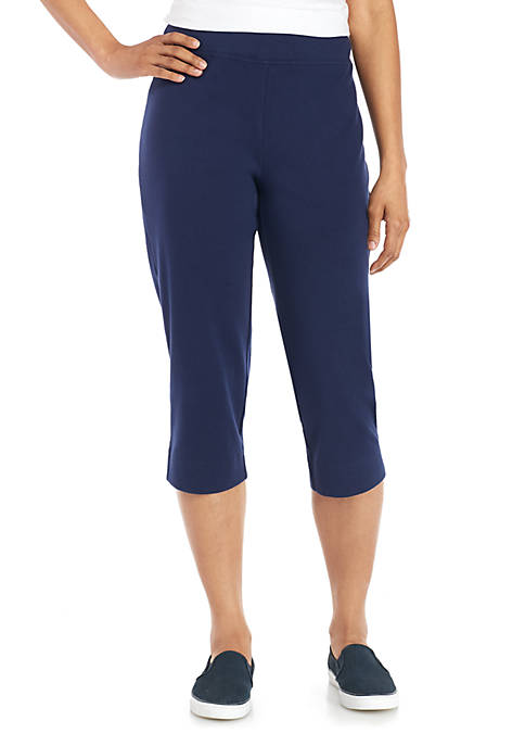 Alfred Dunner Americas Cup Pull-On Knit Capri