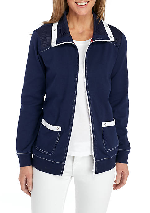 Alfred Dunner Petite Americas Cup Sailboat Jacket