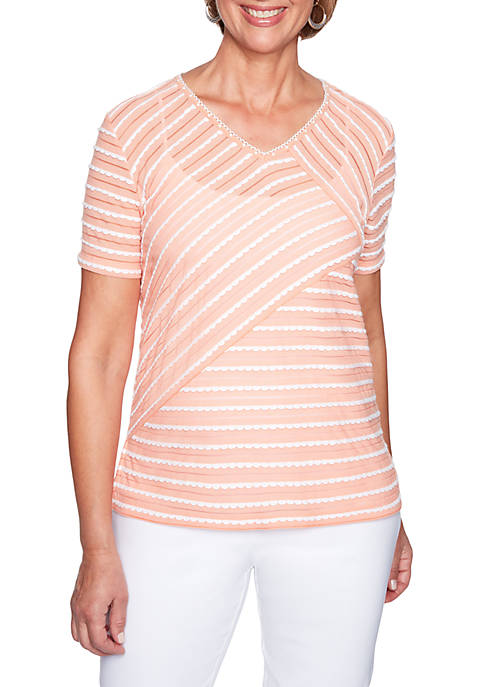 Alfred Dunner Los Cabos Stripe Knit Top