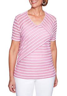 Petite Los Cabos Stripe Knit Top