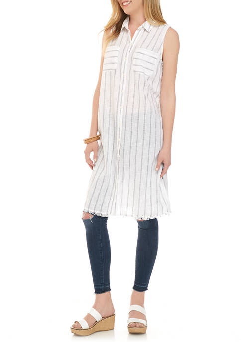 New Directions® Womens Sleeveless Collared Dress