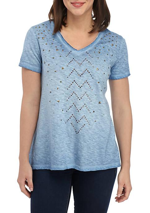 Short Sleeve High Low Hem T Shirt