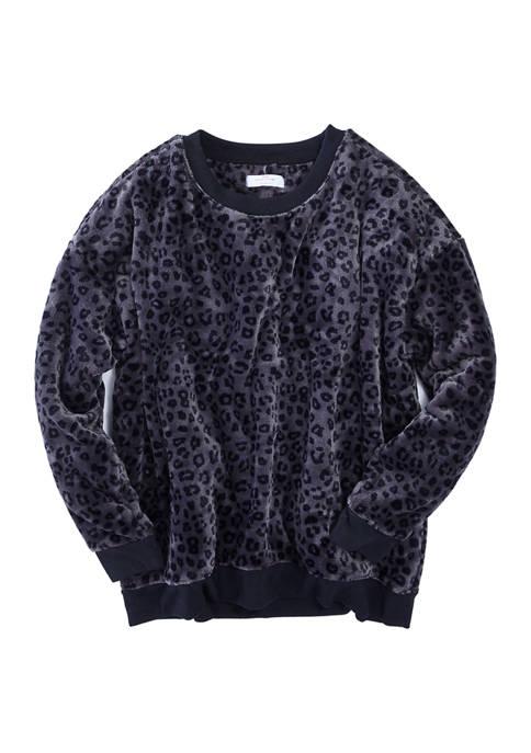 New Directions® Womens Fleece Crew Neck Sweatshirt