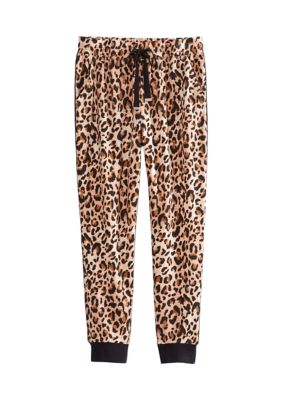 New Directions Womens Tie Waist Joggers