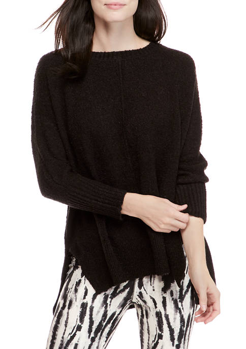 New Directions® Womens Flyaway Crew Sweater