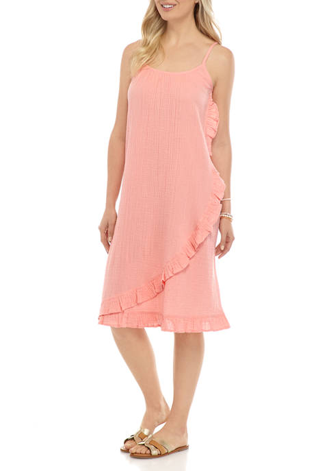 New Directions® Womens Ruffled Camisole Dress