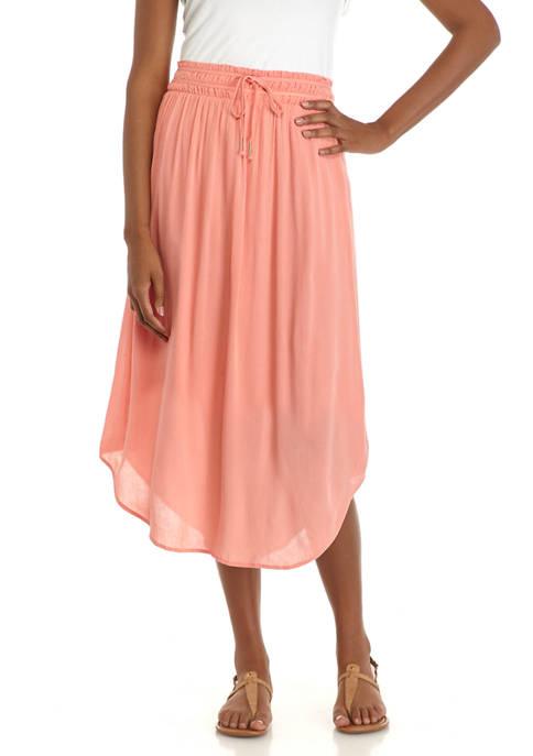 New Directions® Womens Banded Waist Midi Skirt