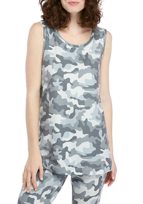 New Directions® Womens Yummy Printed Studio Tank Top