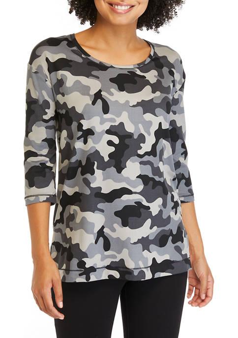New Directions® Womens Studio Yummy 3/4 Sleeve Top