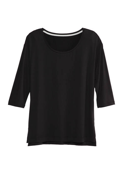 New Directions® Womens Studio Yummy 3/4 Sleeve Top