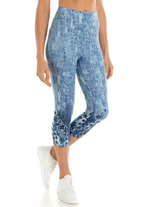 New Directions® Womens Studio Printed Capri Leggings