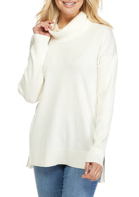 New Directions® Womens Drop Shoulder Cowl Neck Sweater