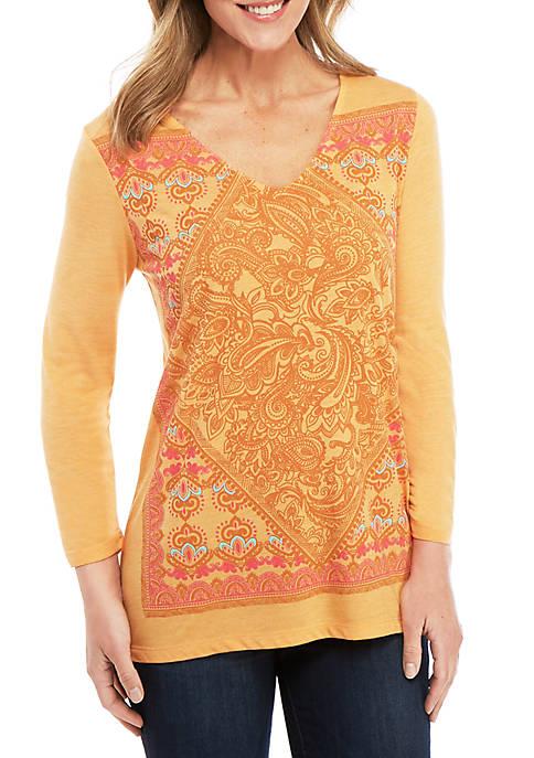 3/4 Sleeve Graphic T Shirt