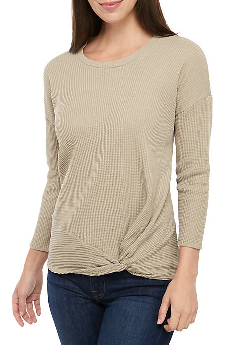 Womens Knot Front Top
