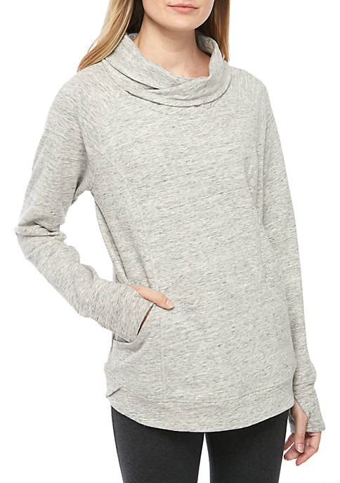 New Directions® Long Sleeve Space Dye Pullover