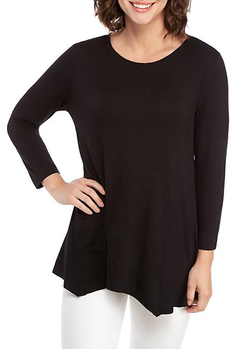 3/4 Sleeve Knit T Shirt