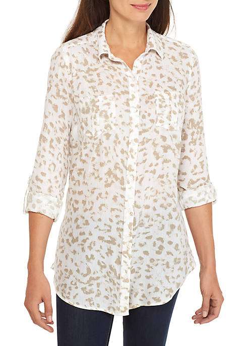 New Directions® Button Front Top