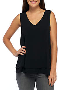 Double Layer Woven Tank