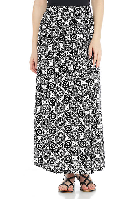 New Directions® Pull-On Medallion Skirt