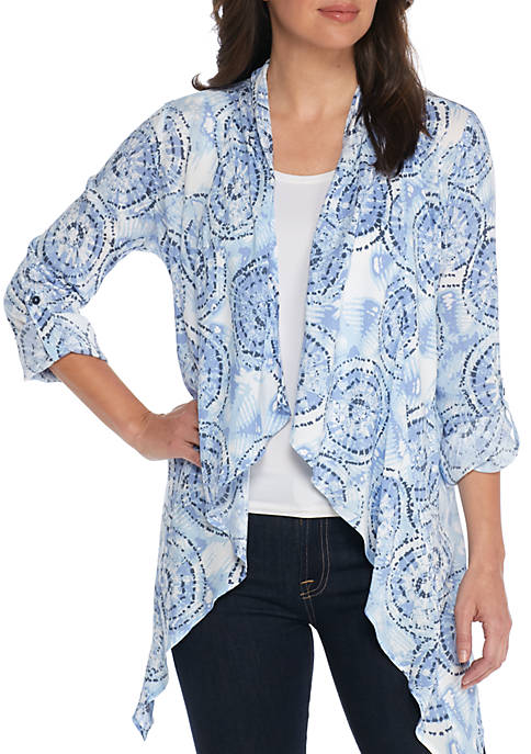 New Directions® Cascade Front Fringe Cardigan