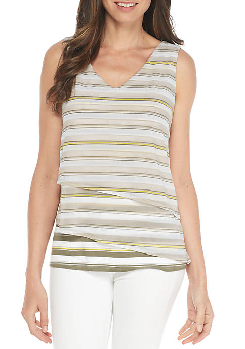 New Directions® Stripe Mix Media Tank