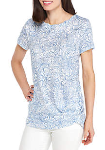 Knot Front Twist Tee