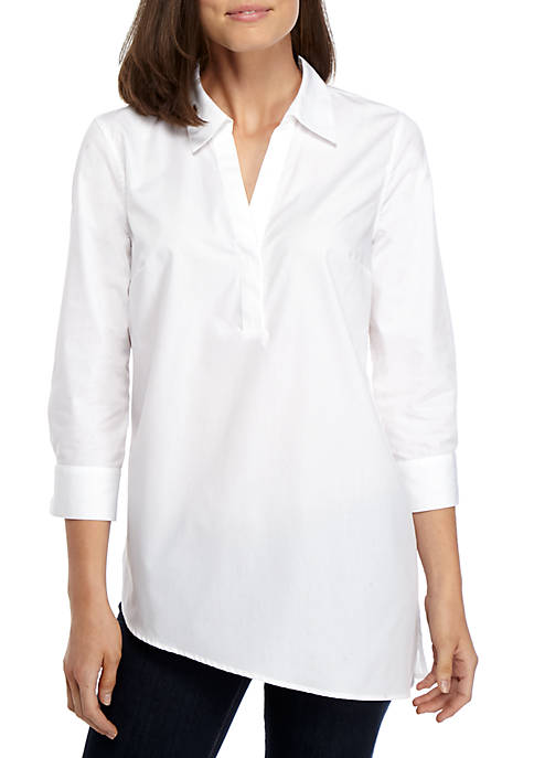 New Directions® Asymmetrical Hem Shirt