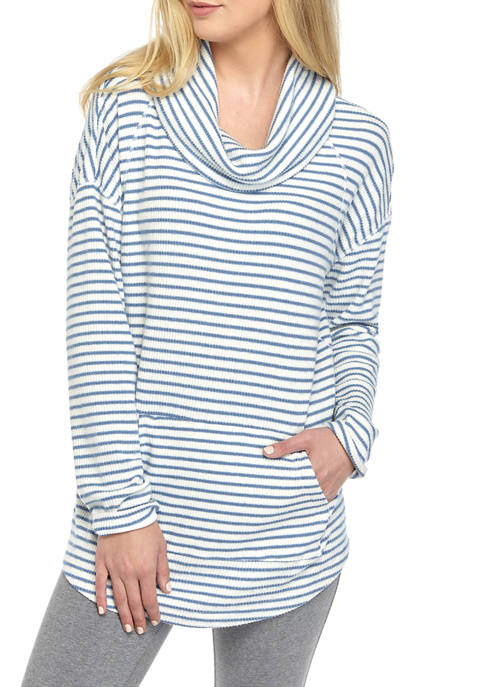 New Directions® Womens Long Sleeve Cowl Neck Rib