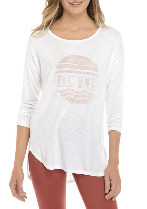 New Directions® Womens Solid Heather Graphic Top