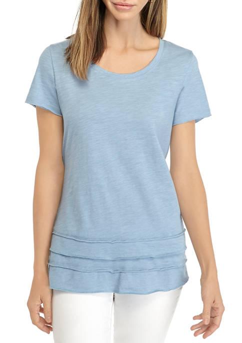 Womens Crew Neck Layer T-Shirt