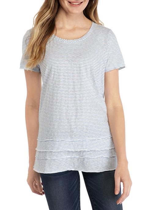 Womens Short Sleeve Crew Layer T-Shirt